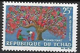 T C H A  D   -    1964.      Y&T N° 100 *  .   Arbre   /   Le Flamboyant - Chad (1960-...)