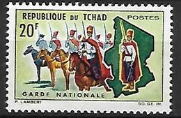 T C H A  D   -    1964.      Y&T N° 102 *  .   Garde Nationale  à  Cheval. - Chad (1960-...)