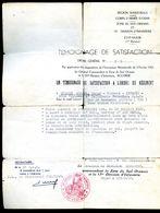 Un Témoignage De Satisfaction à L' Ordre Du Régiment Par Commandant Ginestet Sud Oranais 13 Infanterie Oran  AVR20-87 - Diploma & School Reports