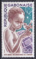 Gabun Gabon 1979 Organisationen UNO ONU Kinderhilfswerk UNICEF Kinder Children Globus Globe Vögel Birds, Mi. 706 ** - Gabon (1960-...)