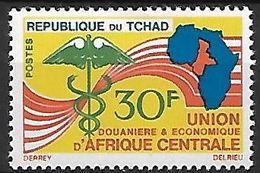 T C H A  D   -    1966.      Y&T N° 125 **  .   Union Douanière Africaine - Chad (1960-...)