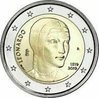 2019-ITALIA REPUBBLICA-2 EURO -LEONARDO DA VINCI-FDC Da Rotolino - Italie