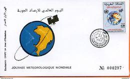 """Maroc;FDC 1er Jour; 1993 ; TP N°1140 """" Journée Météorologique Mondiale  """" Morocco,Marruecos - Maroc (1956-...)"""