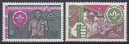 Gabun Gabon 1975 Organisationen Pfadfinder Scouts Weltpfadfindertreffen Norwegen Norway Jugend Youth, Mi. 563-4 ** - Gabon (1960-...)
