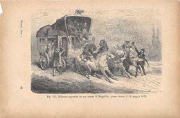Diligenza Aggredita Da Uno Sciame Di Maggiolini Presso Gisors Il 18 Maggio 1833. Stampa 1893 - Vieux Papiers