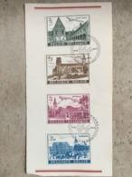 1662/65 Série Complète (Bijloke Gent, Saint-Ursmer Lobbes, Abbaye Heverlee, Abbaye Floreffe) Cachet Prévente - Hojas