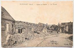 CP 59 BLECOURT CAMBRESIS CAMBRAI - Après La Guerre - Les Ruines - Edit Lussiez Dumont - France