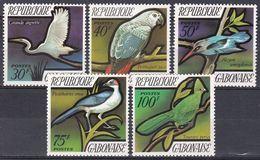 Gabun Gabon 1971 Tiere Fauna Animals Vögel Birds Oiseaux Aves Uccelli Reiher Papageien Turako Liest, Mi. 448-2 ** - Gabon