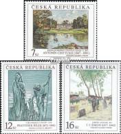 Tschechien 161-163 (kompl.Ausg.) Postfrisch 1997 Kunst - Tchéquie