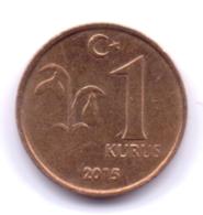 TURKEY 2015: 1 Kurus, KM 1239 - Turquie