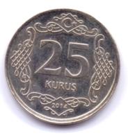 TURKEY 2014: 25 Kurus, KM 1242 - Turquie