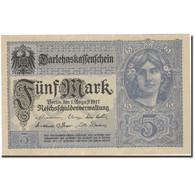 Billet, Allemagne, 5 Mark, 1917, 1917-08-01, KM:56a, SPL+ - [ 2] 1871-1918 : Impero Tedesco