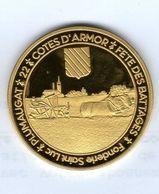 Médaille Touristique De La Fonderie Saint-Luc - 22 PLUMAUGAT - Fête Des Battages, Fauchage Du Blé - Logo Bar L'Hermine - Touristiques