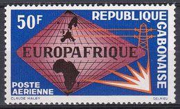 Gabun Gabon 1965 Organisationen Zusammenarbeit Cooperation Entwicklung Developement Elektrizität EUROPAFRIQUE, Mi. 227** - Gabon (1960-...)