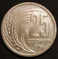 BULGARIE - BULGARIA - 25 STOTINKI 1951 - KM 54 - Bulgarien