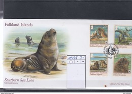 Falkland Inseln Michel Cat.No. FDC  1143/1146 Sea Lion - Falklandeilanden
