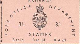BAHAMAS, 1961, Booklet 2, 3/-: 8x1d, 8x1½d, 8x2d - Bahamas (1973-...)