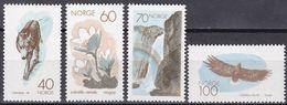 Tr_ Norwegen Norway Norge 1970 - Mi.Nr.  602 - 605 - Postfrisch MNH - Tiere Animals - Adler & Greifvögel