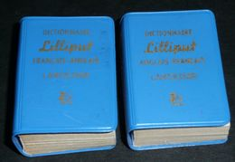 Rare Lot 2 Anciens Livres Miniatures Dictionnaire Lilliput LAROUSSE 1961 Français-Anglais Anglais-Français English - Dizionari