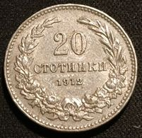 BULGARIE - BULGARIA - 20 STOTINKI 1912 - KM 26 - Ferdinand I - Bulgarien