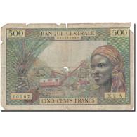 Billet, États De L'Afrique équatoriale, 500 Francs, Undated (1963), KM:4a, B+ - Central African States