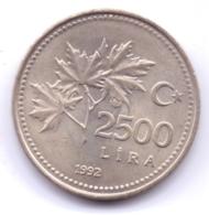 TURKEY 1992: 2500 Lira, KM 1015 - Turquie