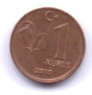 TURKEY 2010: 1 Kurus, KM 1239 - Turquie