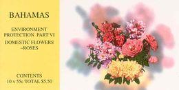 BAHAMAS, 1998, Booklet 7    Domestic Flowers: Roses - Bahamas (1973-...)