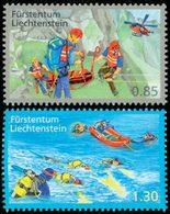 LIECHTENSTEIN Secours Bénévole/Montagne 2v Neuf ** MNH - Liechtenstein