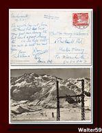 1951 Schweiz Suisse Svizzera Ak Andermatt Gel. N. Grossbritannien Skilift Naetschan-Guetsch Stempel - Covers & Documents
