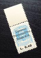 Fiume Croatia Italy Revenue Stamp L 0.40 B1 - Occ. Yougoslave: Fiume