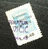 Fiume Croatia Italy Revenue Stamp L 0.40 B3 - Occ. Yougoslave: Fiume