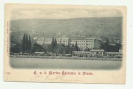 MARINE - AKADEMIE IN FIUME 1925  - VIAGGIATA FP - Croazia