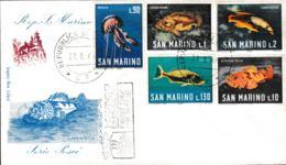 San Marino FDC  1966 Serie Pesci (G111-61) - FDC