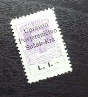 Fiume Croatia Italy Revenue Stamp L 1 B7 - Occ. Yougoslave: Fiume