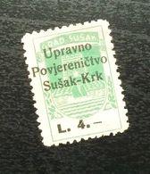Fiume Croatia Italy Revenue Stamp L 4 B10 - Occ. Yougoslave: Fiume