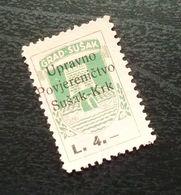 Fiume Croatia Italy Revenue Stamp L 4 B11 - Occ. Yougoslave: Fiume