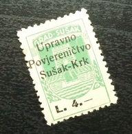 Fiume Croatia Italy Revenue Stamp L 4 B12 - Occ. Yougoslave: Fiume