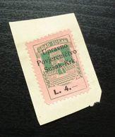 Fiume Croatia Italy Revenue Stamp L 4 B13 - Occ. Yougoslave: Fiume