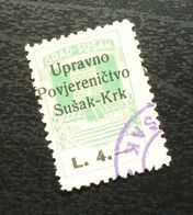 Fiume Croatia Italy Revenue Stamp L 4 B16 - Occ. Yougoslave: Fiume