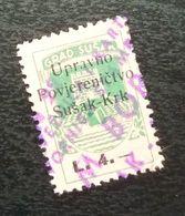 Fiume Croatia Italy Revenue Stamp L 4 B18 - Occ. Yougoslave: Fiume