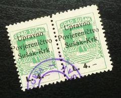 Fiume Croatia Italy Revenue Stamps L 4 B19 - Occ. Yougoslave: Fiume