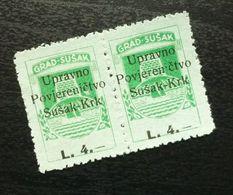 Fiume Croatia Italy Revenue Stamps L 4 B20 - Occ. Yougoslave: Fiume