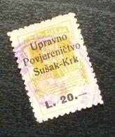 Fiume Croatia Italy Revenue Stamp L 20 B22 - Occ. Yougoslave: Fiume