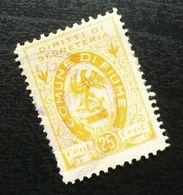 Fiume Croatia Italy Revenue Stamp 25 Cent B26 - Occ. Yougoslave: Fiume