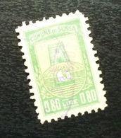 Fiume Croatia Italy Revenue Stamp 0.80 Lire B27 - Occ. Yougoslave: Fiume