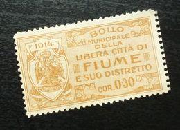 Fiume Croatia Italy Revenue Stamp Cor 0.30 B28 - Occ. Yougoslave: Fiume