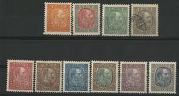 ISLANDE ICELAND COTE 84 € N° 34 à 43 Neufs * (MH) Sauf N° 37 Oblitéré. Ensemble De 10 Valeurs, Christian IX - Nuevos
