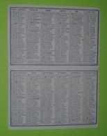 CALENDRIER 1951 - Publicité PHARMACIE - DEBOEUF à Connerré - Bœuf - Environ 6x9 Fermé - Bon état D'usage - Calendriers