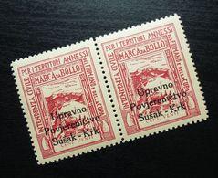 Fiume Croatia Italy Revenue Stamps Cent Venti B30 - Occ. Yougoslave: Fiume